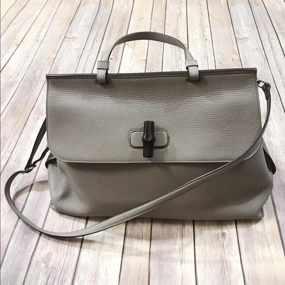 39fdd056c2469c Gucci Bags | Grey Bamboo Daily Tote Horsebit Detail | Poshmark